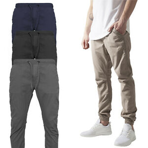 URBAN-CLASSICS-COTTON-TWILL-JOGGING-HOSE-CHINO-FREIZEIT-SWEAT-PANT-TRAININGSHOSE