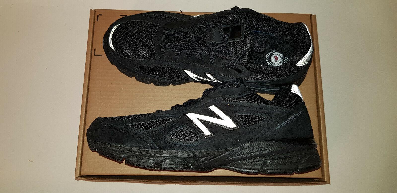 New Balance 990 v4 M990BB4, Herren Größe 12.5 Extra Breit (4E), Schwarz   Neu