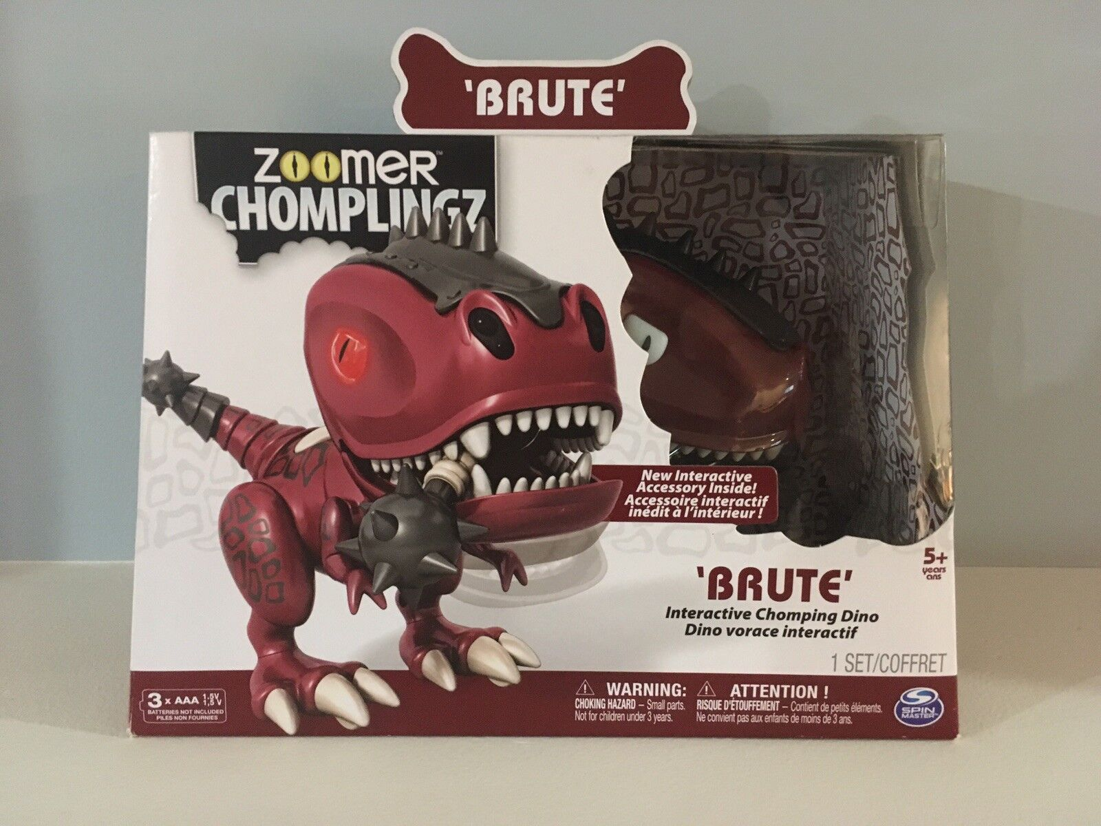 Zoomer Chomplingz Brute Red Dinosaur - Interactive Chomping Dino - Exclusive