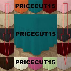 Détails sur 100% cotton-poly lit équipée jupe extérieure feuille simple  double & king tailles taie d\'oreiller- afficher le titre d\'origine