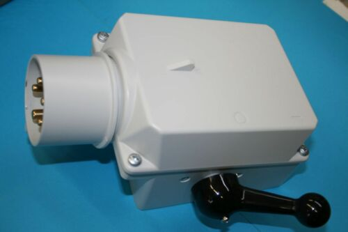 CEEGerätestecker 7,5KW gussgekapselt 16A Elektra 46655 Motor Wendeschalter