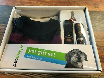 Onverdroten Pet Gift Set By Pet Shoppe Assorted 4 Piece Set Apparel Collar Leash & Tag Firm In Structuur