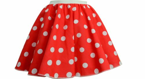"""Ladies 1950/'s 50/'s GREASE Style Polka Dot 24/""""Length Skirts VINTAGE Fancy Dress"""
