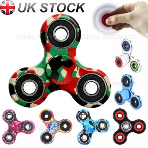 Fidget Spinner doigt Glow Paillettes main Focus metal steel EDC portant STRESS Toy