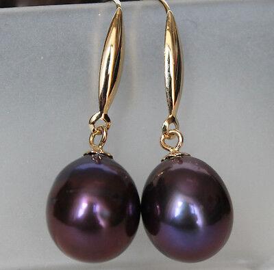 AAA+10-11mm Süßwasserperlen Ohrhänger mit 585er 14K Gold