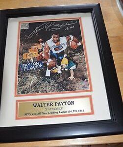 e1e0fa58942 WALTER PAYTON PLACE Chicago BEARS Signed 16x14 COA Autographed  2 ...
