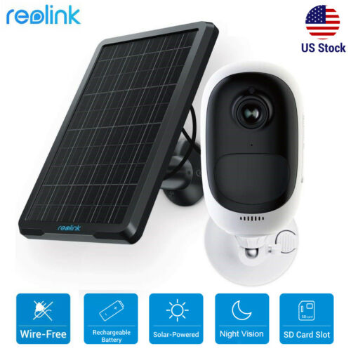 Wireless Security IP Camera HD 1080P Rechargeable Solar Panel Reolink Argus Pro