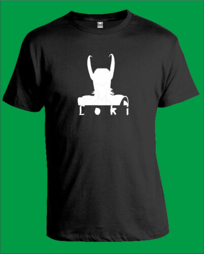 LOKI  Black T-Shirt  Mens and Women S to XXXL Marvel Avengers Assemble Thor.