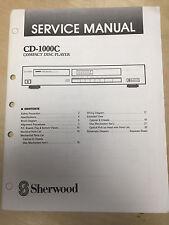 Sherwood Service Manual for the CD-1000C CD Player ~ Repair
