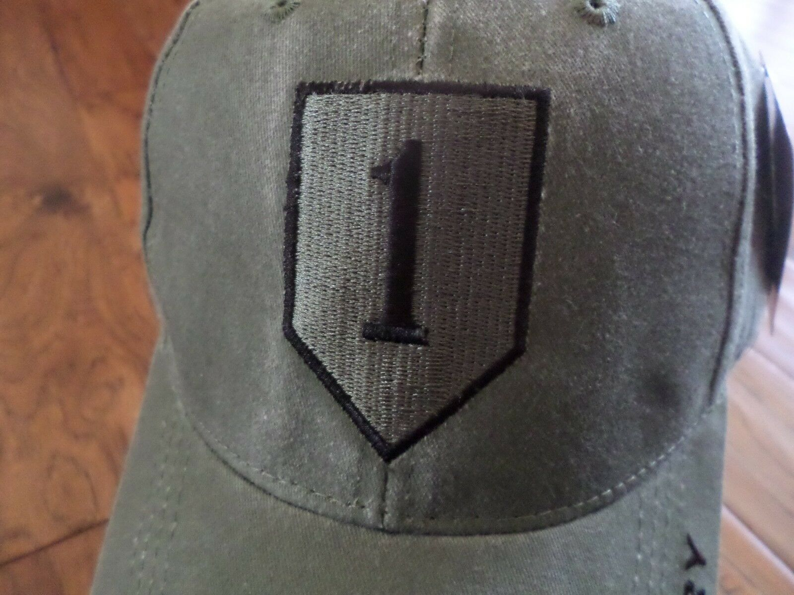 U.S MILITARY ARMY INFANTRY 1st INFANTRY ARMY DIVISION HAT STONEWASHED CAP bf1253