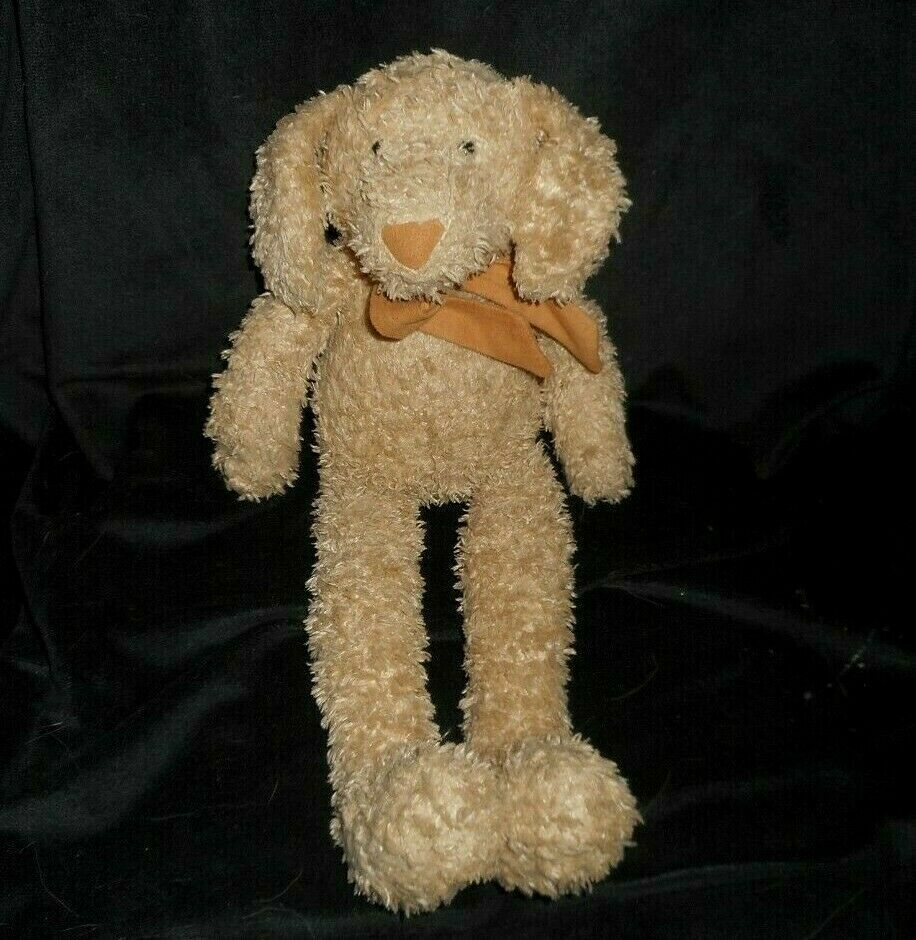 15  JELLYCAT BABY BROWN FLOPPY PUPPY DOG SUEDE BOW NOSE STUFFED ANIMAL PLUSH TOY