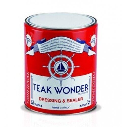 Teak Wonder Dressing and Sealer, olio impregnante per teak 4LT