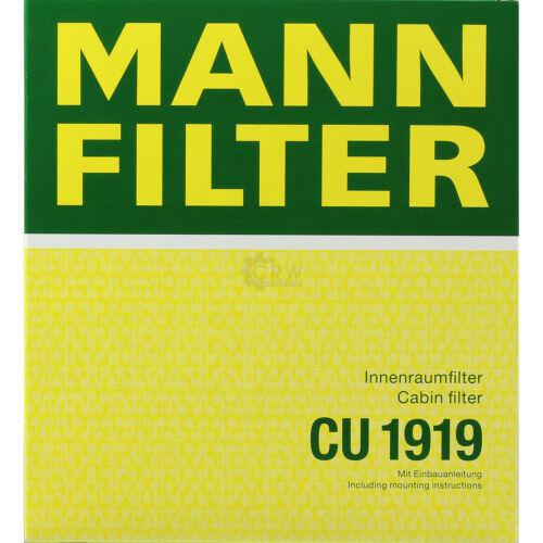 ORIGINALE MANN-FILTER dell/'abitacolo aria polline FILTRO dell/'abitacolo FILTRO cu 1919