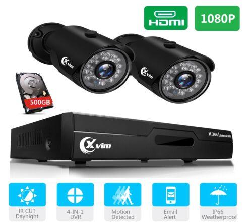 XVIM HD CCTV 1080P DVR 2MP Night Vision Outdoor Camera Home Security System Kit