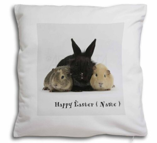 Personalised Rabbit+Guinea Pigs Soft Velvet Feel Cushion Cover With AR-9PEA-CPW