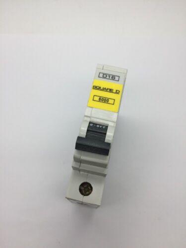 Square D qoe D16 QO116ED6 simple pôle MCB 16Amp Type D Disjoncteur 6kA