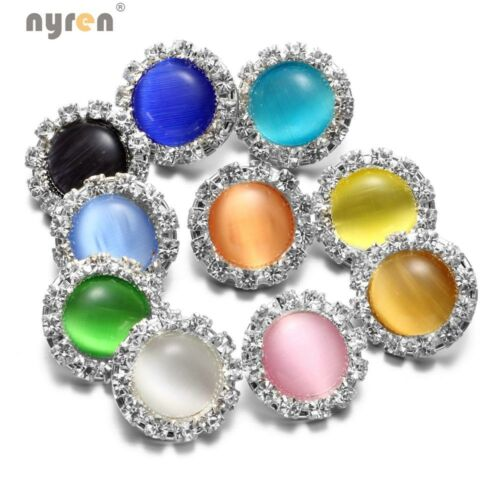 10pcs Multi Color 18mm Snap Button Opal Rhinestone Snap Charms 20mm Snap Jewelry