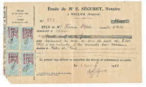 1923-french-notary-receipt-with-very-nice-official-stamps-and-signature-1923