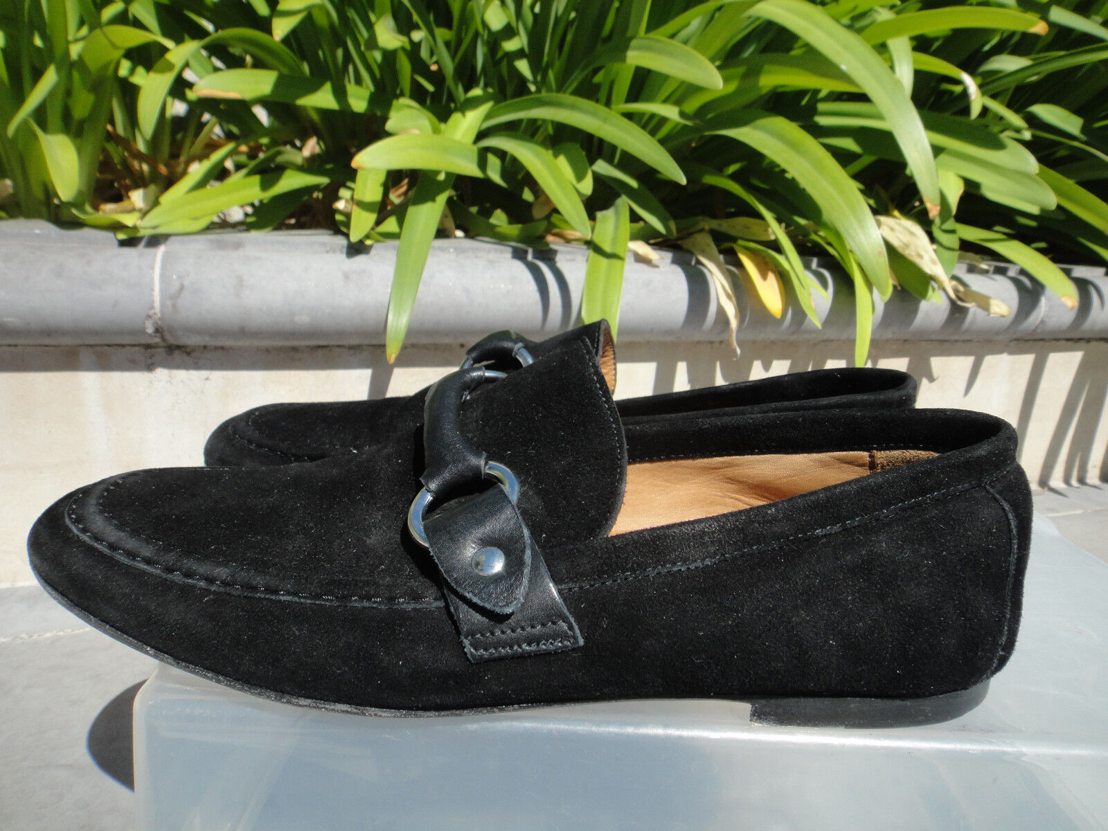 Isabel Marant FARLOW Loafer, Suede Leather Silber Hardware, Wmns' Wmns' Wmns' Sz FR37  485 5830a1