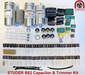 STUDER-B62-capacitor-and-trimmer-upgrade-overhaul-kit