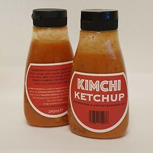 UK Made Kimchi Ketchup Salsa fermentata Kimchi succhi di frutta x2 Bottiglie