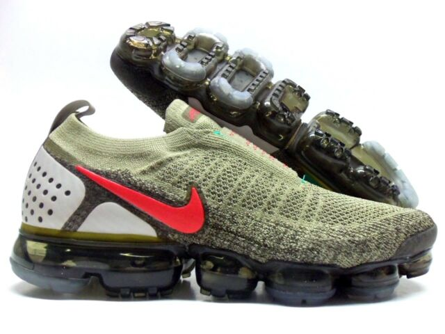 new style 1f0ac 39373 Nike Air Vapormax FK MOC 2 Ah7006 200 Neutral Olive/habanero Red MN 10.5  WMN 12