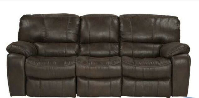 Enjoyable Cindy Crawford Home Alpen Ridge Brown Dual Reclining Sofa Couch Pickup Only Unemploymentrelief Wooden Chair Designs For Living Room Unemploymentrelieforg