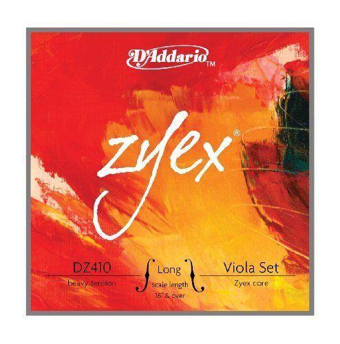 D'Addario Zyex Viola String Set, Long Scale, Heavy Tension