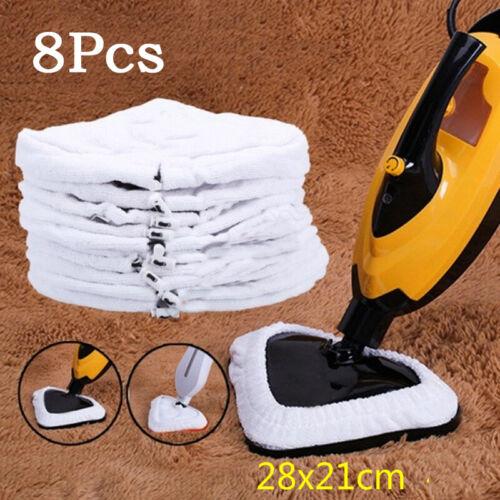 8x Mikrofaser Tuch Reinigung Pad für Dampf Boden Mop Dämpfer Reiniger Zubehör