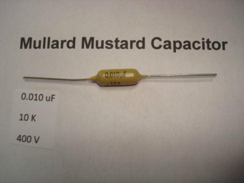 RC4 0.01uF 10K 400V 10/% *1 PC* HIFI MULLARD MUSTARD CAPACITOR
