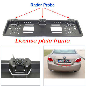 Car Parking Reversing Sensor Kit European License Plate Monitor System 3Sensors