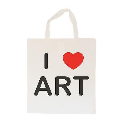 I Love Art - Cotton Bag | Size choice Tote, Shopper or Sling