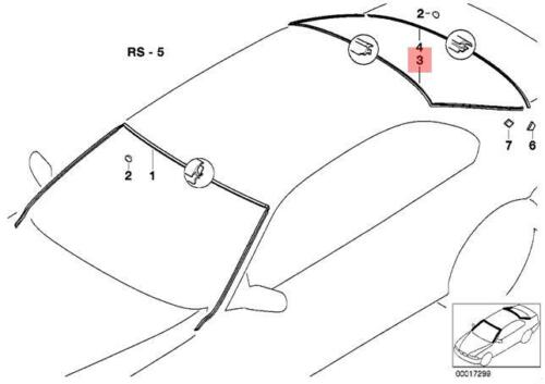Genuine BMW E39 Sedan Windshield Moulding Trim Seal OEM 51318172755
