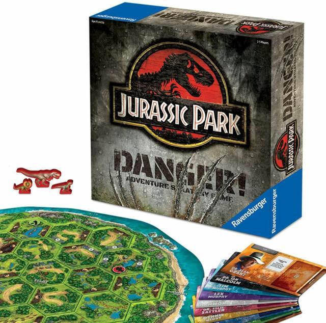 Jurassic Park Danger Adventure Strategy Family Board Game Dinosaur World