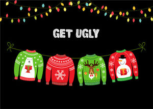Christmas Sweater Background.Details About Ugly Christmas Sweater Party Backdrop Tacky Xmas Decor Photo Background Props Lb