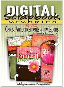 Digital Scrapbook Memories CARD ANNOUNCEMENT INVITATION