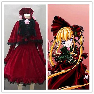 Rozen Maiden Pure Ruby Cosplay Shinku Reddress Costume