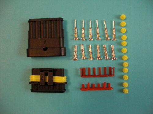 Motorrad MV AGUSTA 15 x AMP Superseal Stecker Set 1-6-polig Starter Set Box
