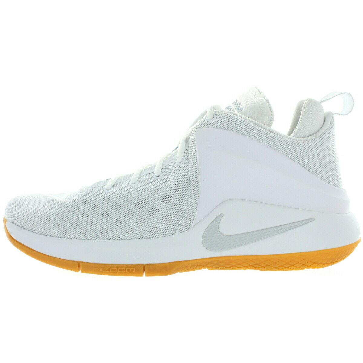 Nike LeBron James Mens Zoom Witness Basketball shoes Pure Platinum 14 Medium