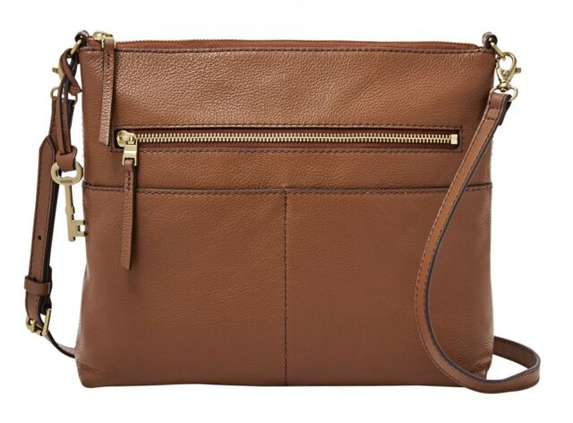 ed1157c242540 FOSSIL Fiona Large Crossbody Umhängetasche Tasche Medium Brown Braun Neu