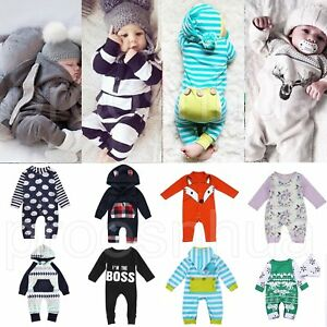 Newborn-Infant-Baby-Boy-Girl-Kids-Romper-Jumpsuit-Cotton-Bodysuit-Clothes-Outfit