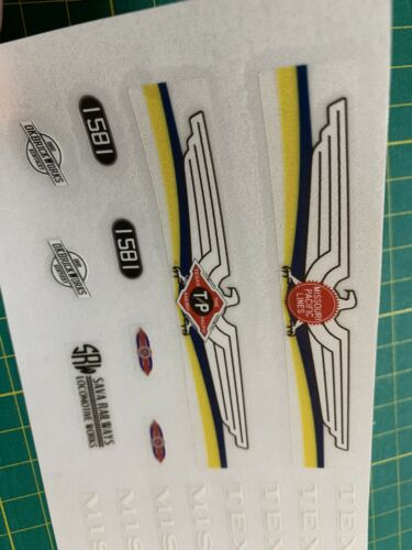 Custom Stickers for Sava Railways MOC Texas Eagle MoPac Train Locomotive