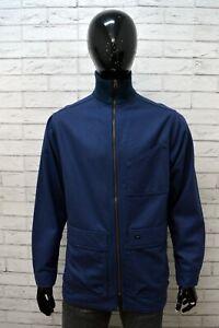 Maglione-LEVI-039-S-Uomo-Taglia-M-Pullover-Sweater-Felpa-Blu-Maglia-Lana-Cardigan