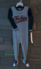 NWT Carter's Toddler Boy 1 piece Football Champs Footed Pajama Overall Size: 3T