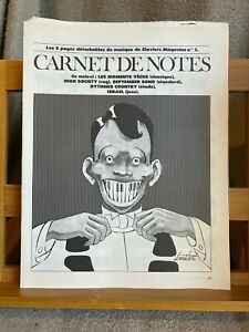 Carnet de notes pages détachables Claviers Magazine n°2 partition piano 2000