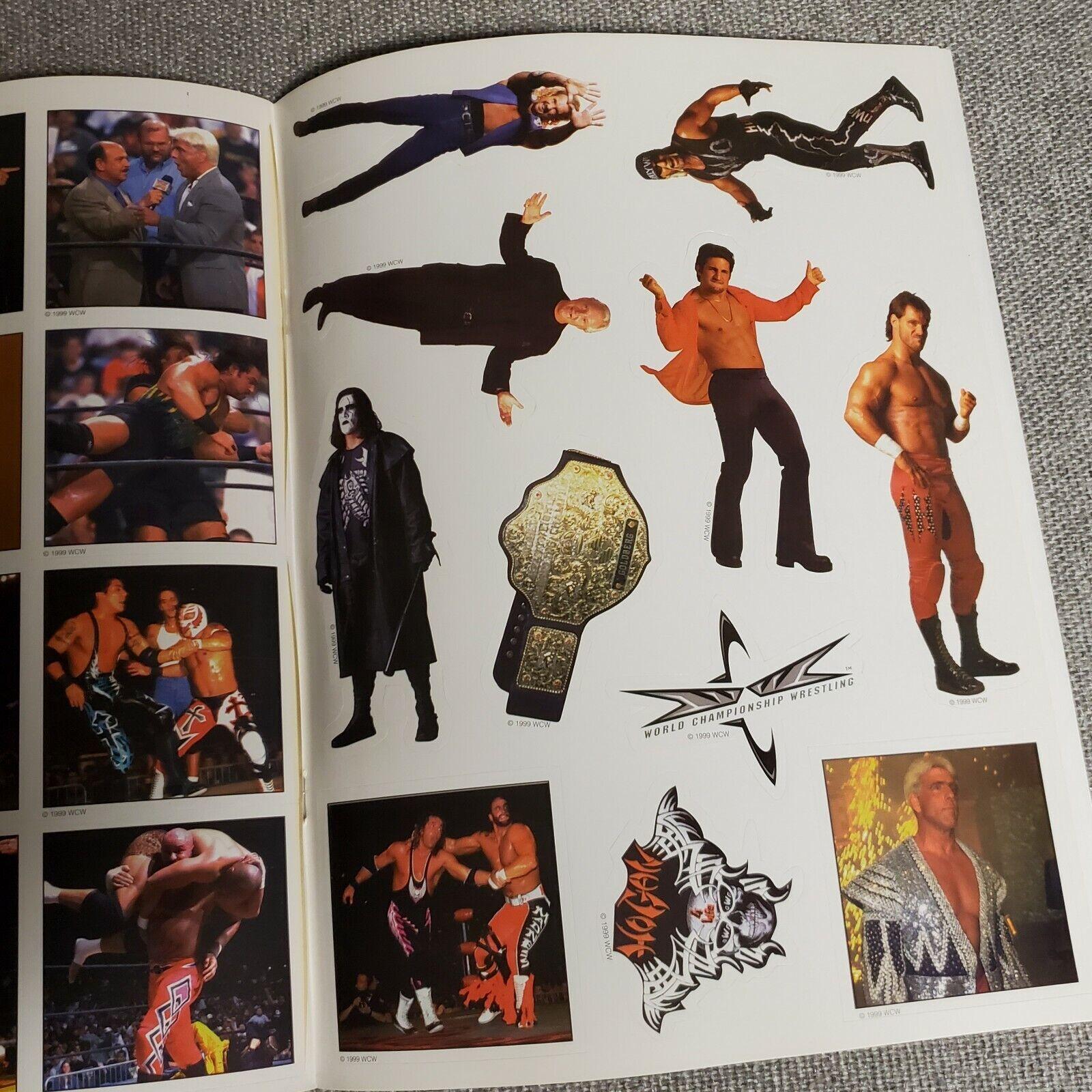 Wcw 1999 Slamboree Wrestling Sticker Album Coloring Book For Sale Online Ebay