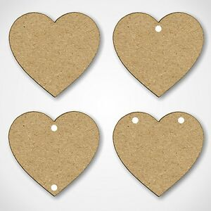 Mdf hearts shapes wooden craft blank embellishments with for Wooden hearts for crafts