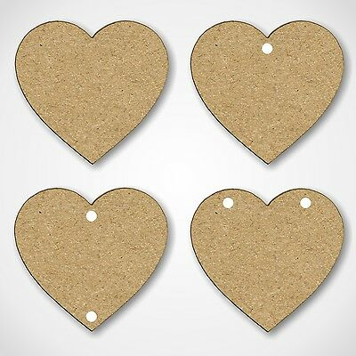 Wooden MDF Entwined Love Hearts Shapes Craft Wedding Heart Embellishment