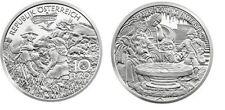 Austria 10 € 2010 Carlo Magno Kaiser Karl FDC  argento