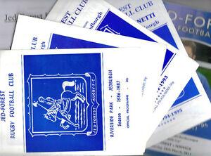 19812011 JEDFOREST JEDBURGH v HAWICK 10 programmes - Denholm, Borders, United Kingdom - 19812011 JEDFOREST JEDBURGH v HAWICK 10 programmes - Denholm, Borders, United Kingdom